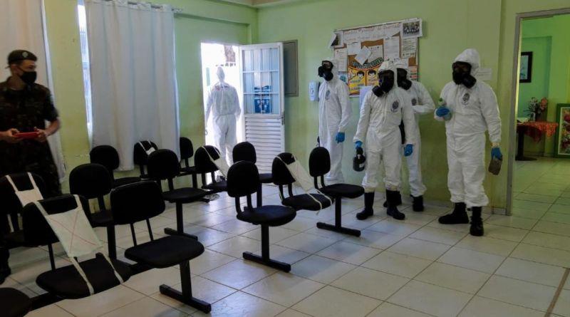 Exército Brasileiro realiza sanitização em Queimados