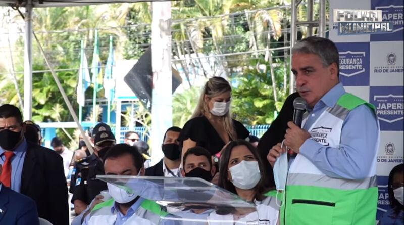 André Ceciliano na cerimônia do Projeto Segurança Presente